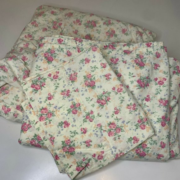 vintage sheet set Ralph Lauren queen 100% cotton c